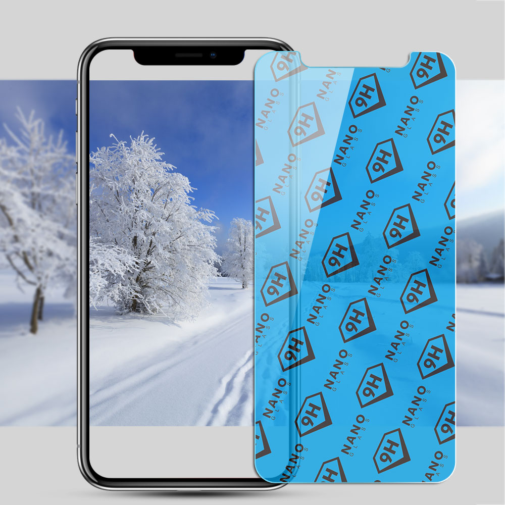 HD 9H Nano Glass Screen Protector for iPhone X, XS Max - YIPI