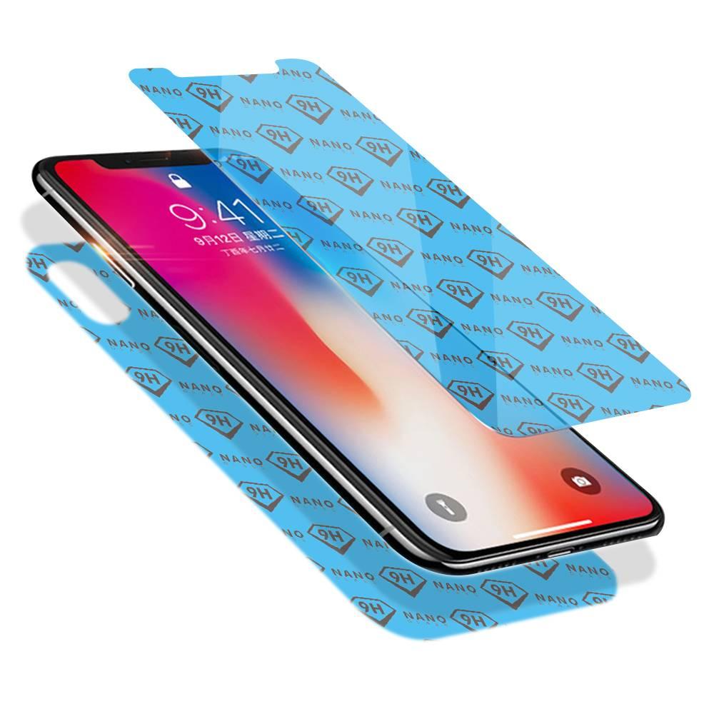Flexible 9H Anti Scratch Nano Glass Screen Guards For iPhone X