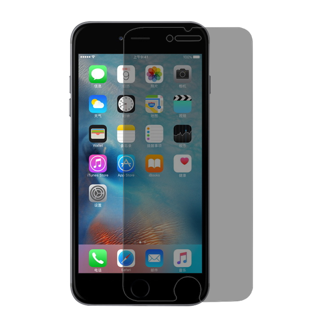 2.5D Black Privacy Screen Protector for iPhone