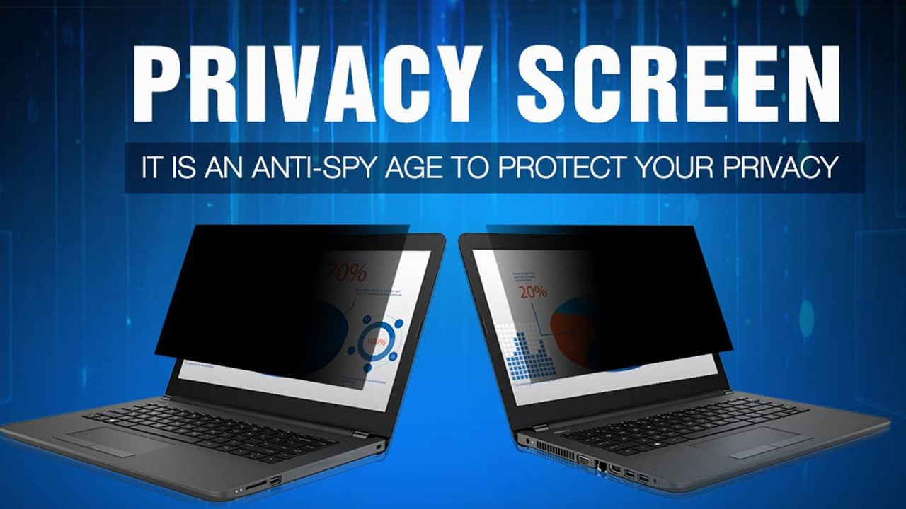How does the privacy screen protector work?