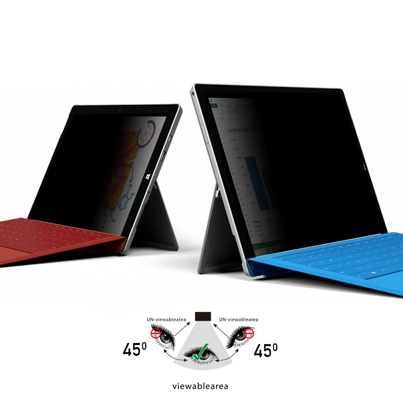 Water Wash Glue Privacy Filter For Microsoft Surface Pro